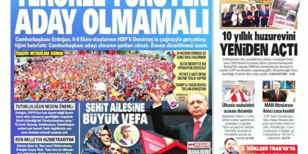 Günün Ulusal Gazete Manşetleri - 14 06 2018