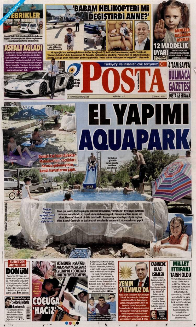 Günün Ulusal Gazete Manşetleri - 05 07 2018 13