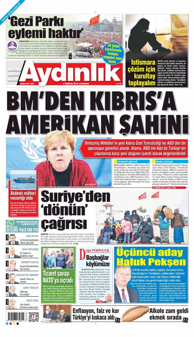 Günün Ulusal Gazete Manşetleri - 05 07 2018 2