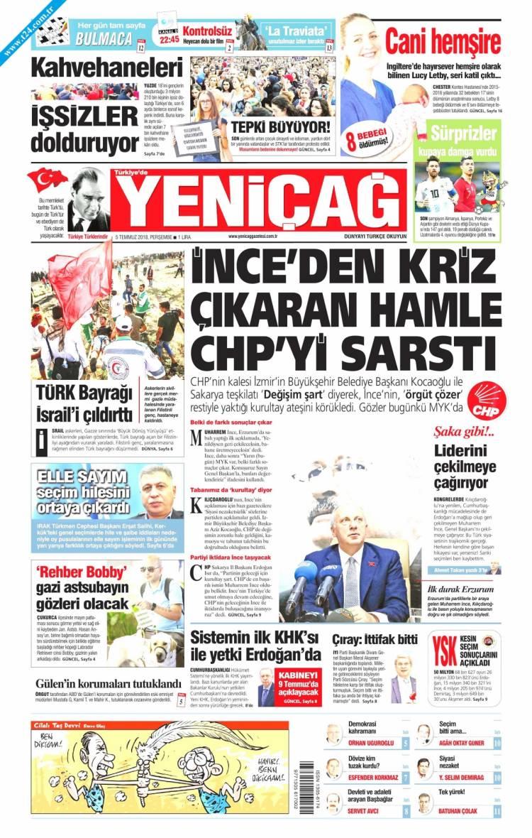 Günün Ulusal Gazete Manşetleri - 05 07 2018 21
