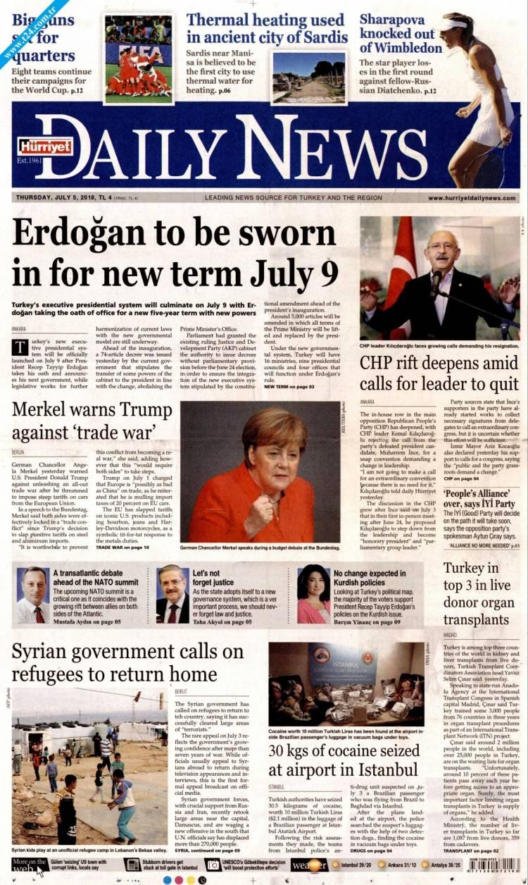 Günün Ulusal Gazete Manşetleri - 05 07 2018 9