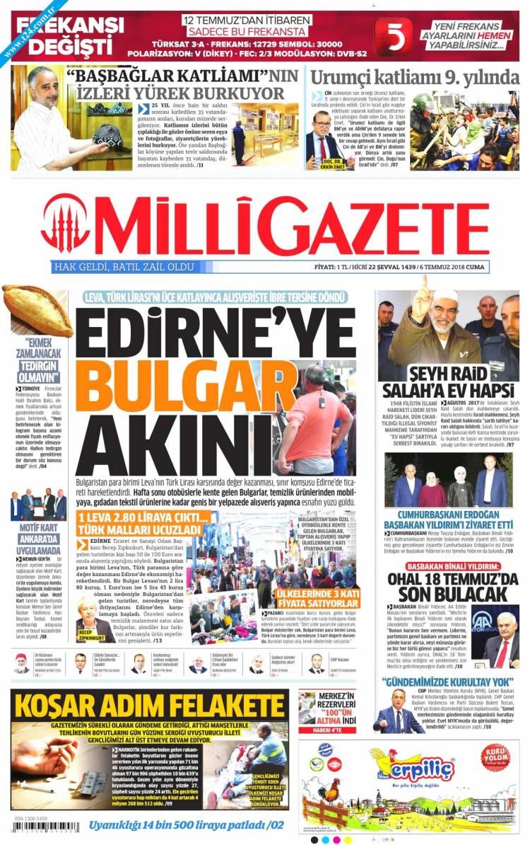 Günün Ulusal Gazete Manşetleri - 06 07 2018 10