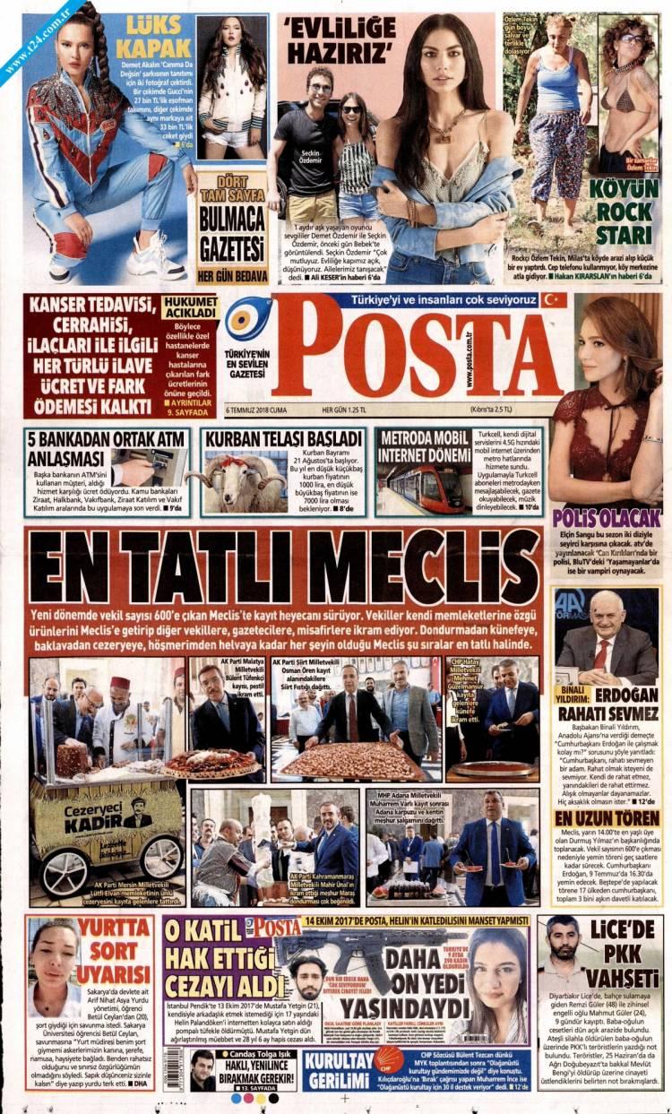 Günün Ulusal Gazete Manşetleri - 06 07 2018 13