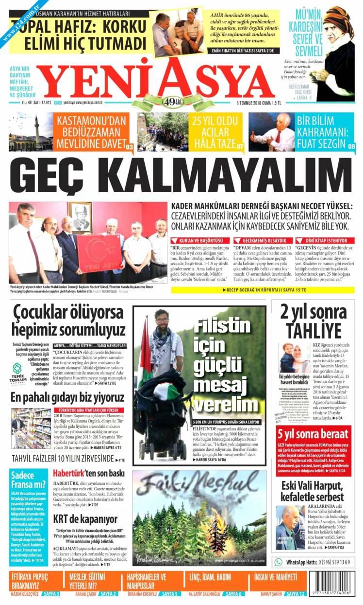 Günün Ulusal Gazete Manşetleri - 06 07 2018 20