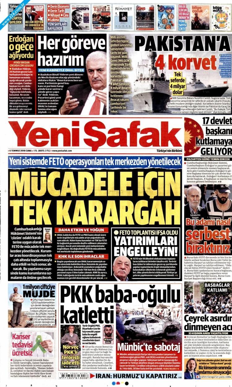 Günün Ulusal Gazete Manşetleri - 06 07 2018 22