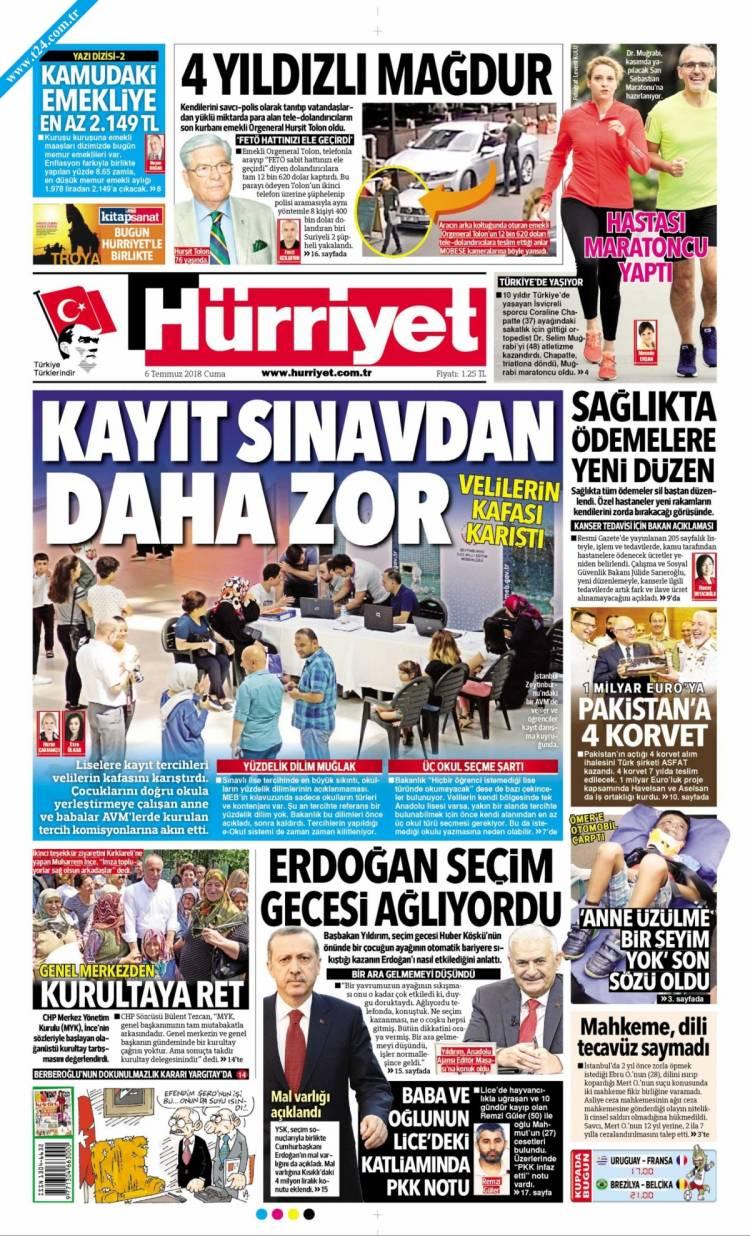 Günün Ulusal Gazete Manşetleri - 06 07 2018 8