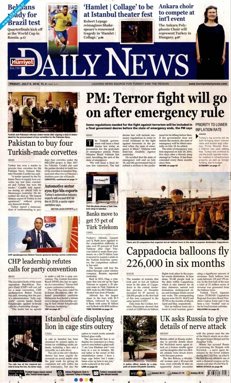 Günün Ulusal Gazete Manşetleri - 06 07 2018 9