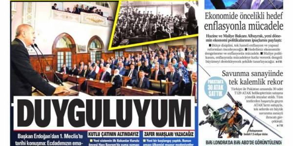 Günün Ulusal Gazete Manşetleri - 14 07 2018