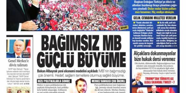 Günün Ulusal Gazete Manşetleri - 11 08 2018