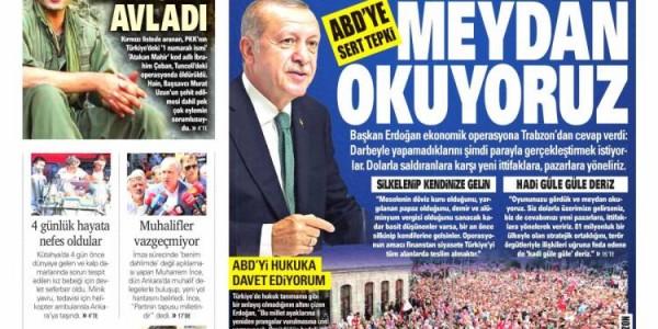 Günün Ulusal Gazete Manşetleri - 13 08 2018