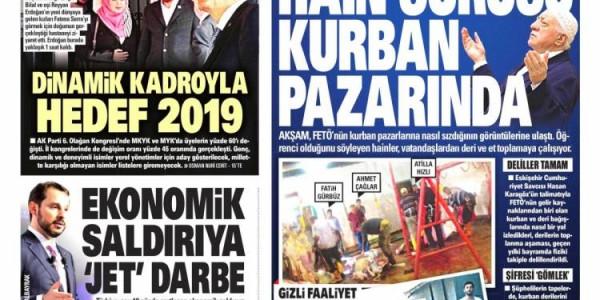 Günün Ulusal Gazete Manşetleri - 20 08 2018