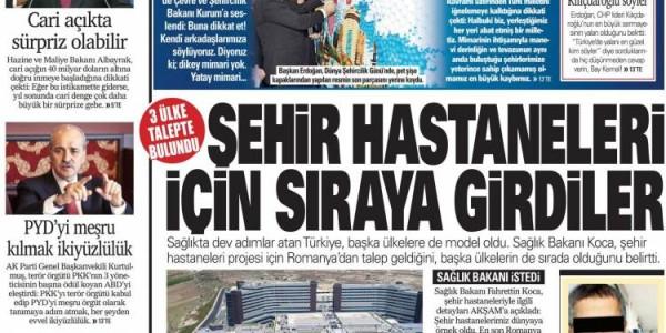 Günün Ulusal Gazete Manşetleri - 09 11 2018
