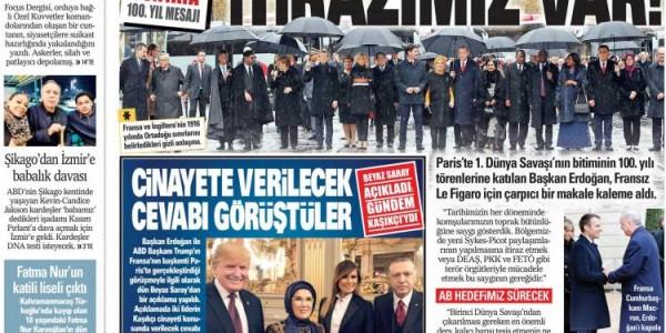 Günün Ulusal Gazete Manşetleri - 12 11 2018