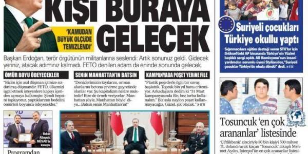 Günün Ulusal Gazete Manşetleri - 10 01 2019