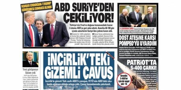 Günün Ulusal Gazete Manşetleri - 20 01 2019