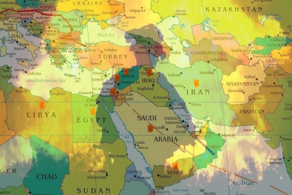Ortadoğu yabancı güçlerin askeri üssü gibi