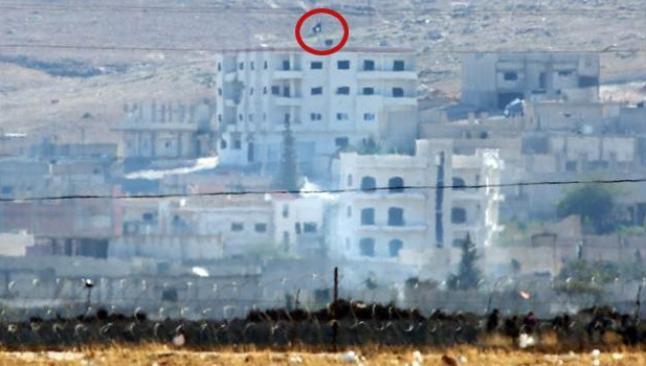 IŞİD, Kobani'de bayrak çekti