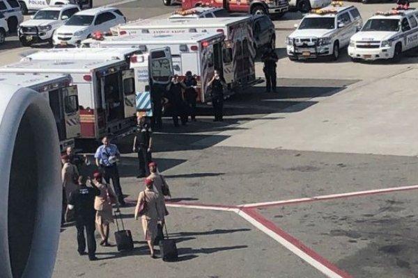 New York'ta uçak krizi: Karantinaya alındı