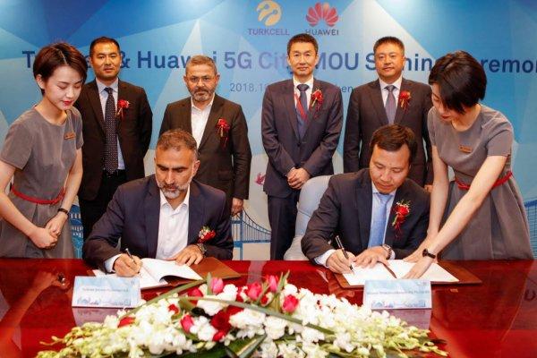 Turkcell ve Huawei 5G'li akıllı şehirler için imza attı