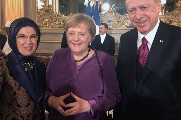 Erdoğan Paris'te devlet, hükümet ve uluslararası kuruluş başkanlarıyla görüştü