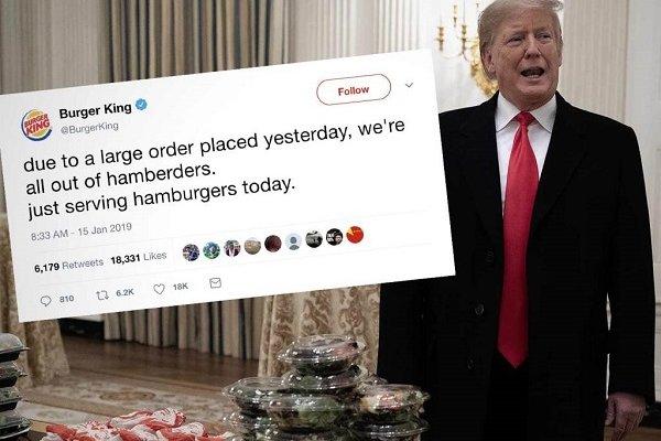 Burger King, Trump ile dalga geçti!