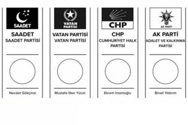 Adayların oy pusulalarındaki yerleri belli oldu
