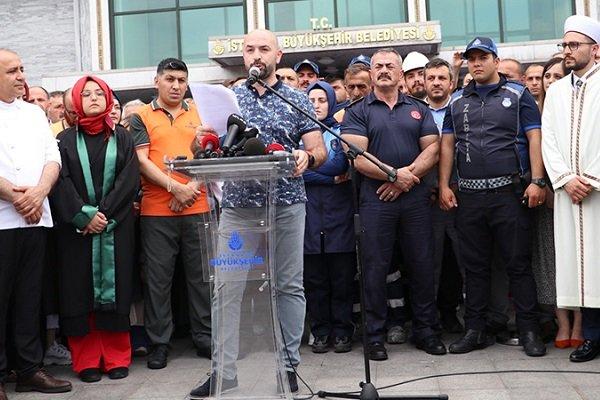 İBB çalışanlarından İmamoğlu aleyhine basın açıklaması