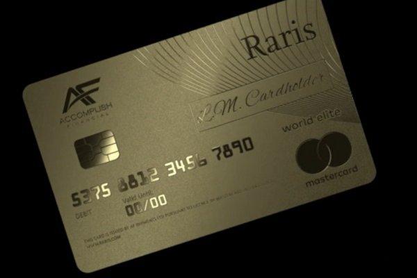 Saf altından banka kartı piyasaya sürüldü