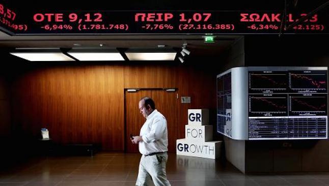 Yunanistan borsası yüzde 5.5 düştü