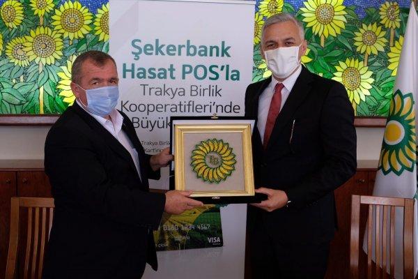 Şekerbank'tan Trakya Birlik üyesi çiftçilere Hasat kart