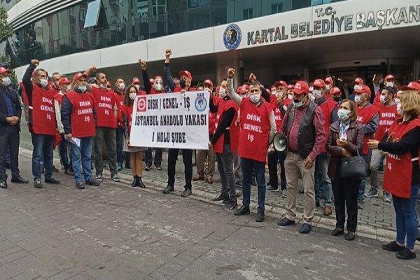 Kartal Belediyesi'nde grev kararı