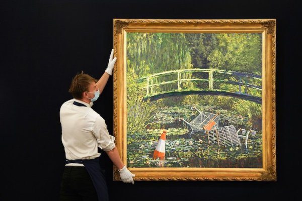 Banksy'nin Monet yorumuna 9,8 milyon dolar