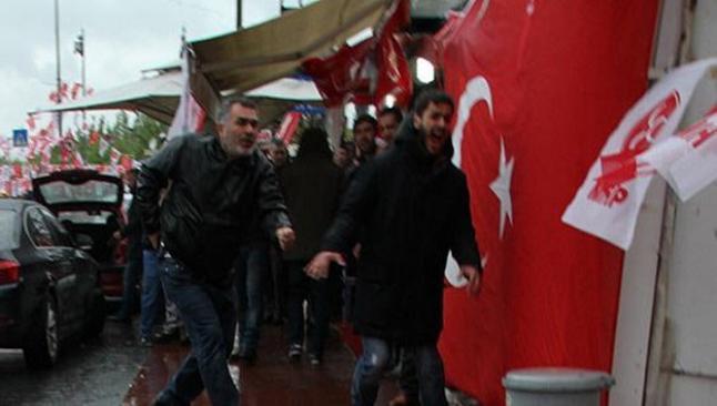 MHP seçim bürosuna saldırı