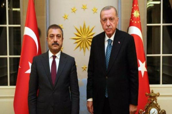 Erdoğan, Merkez Bankası Başkanı ile görüştü
