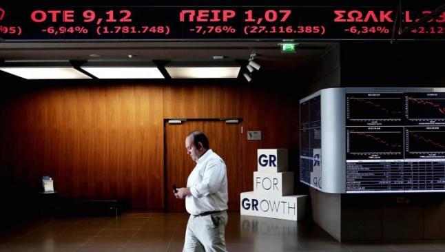Yunan borsası yüzde 23 düşüşle açıldı