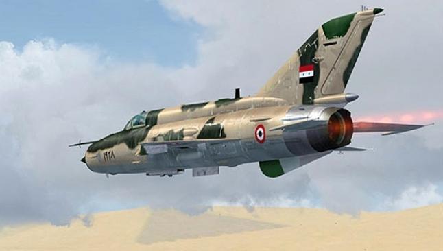 Suriye askeri uçağı düştü