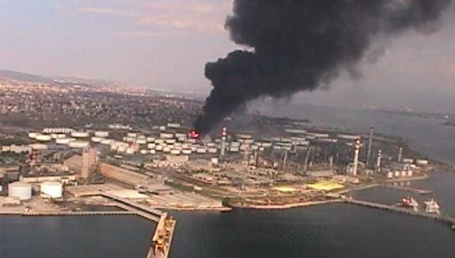Tüpraş'ta yangın çıktı