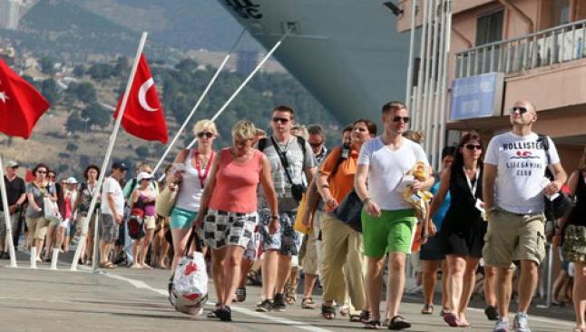 Turist sayısı Mart'ta dibe vurdu