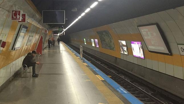 İstanbul'da metrolar bomboş