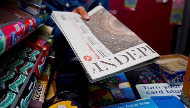 The Independent son kez baskıya gitti