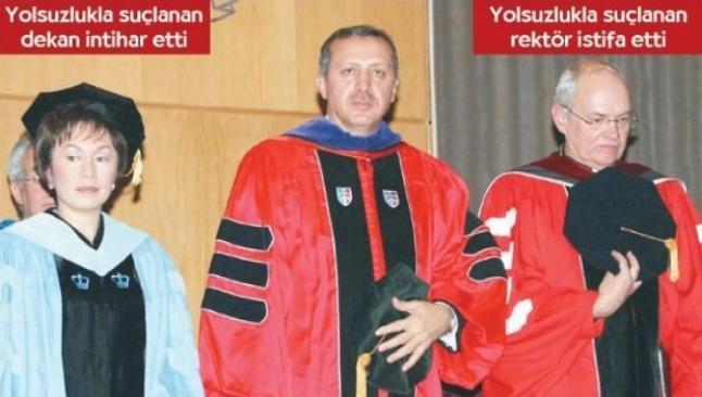 Erdoğan fahri doktorayı bağışla almış