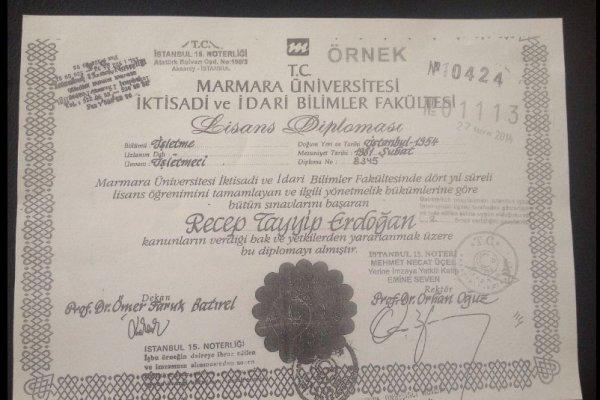 Erdoğan'ın diplomasını HDP yayınladı