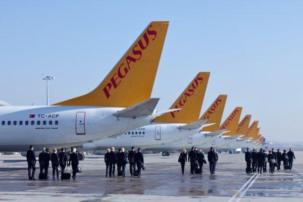 Pegasus'un yolcu sayısı arttı, doluluk oranı düştü