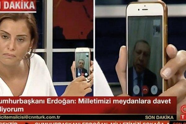 Erdoğan ilk açıklamasında halkı meydanlara  çağırdı