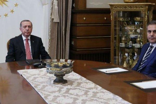 MİT Müsteşarı Hakan Fidan Beştepe'de