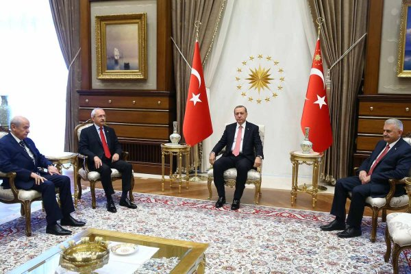 Liderler Beştepe'de bir araya geldi