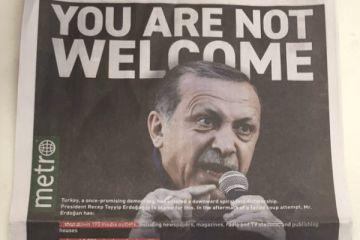 New York Metrosu Gazetesi'nden Erdoğan için ağır manşet