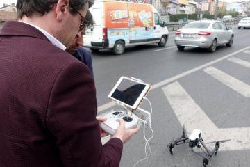 İstanbul'da drone ile trafik denetimi
