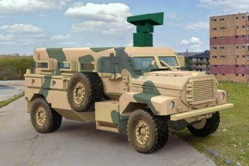 Askeri araçlara duvar arkasını gösteren radar