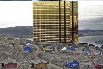 Trump Grönland'a gökdelen dikti!